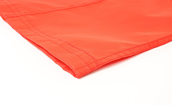 orange windsock close up